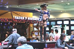 Dancing Cowgirl (Prayitno / Thank you for (12 millions +) view) Tags: blue bikini scantily clad sexy young sensual dancing dancer dances blond blonde girl boots cowgirl half naked pretty beauty beautiful hot casino las vegas nv nevada show showgirl