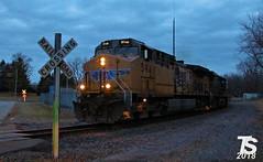 UP 5941 Leads SB Manifest Iowa Falls, IA 12-24-18 (KansasScanner) Tags: iowafalls iowa up csx fire fd train railroad