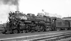 "Boston & Maine 4-6-2 #3711 ""Allagash"" at Boston, MA (Houghton's RailImages) Tags: bostonmaine allagash 462 steamengine steam locomotive bw trains locomotives boston massachusetts usa bm"