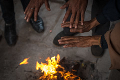 Cold Morning Bonfire (shapeshift) Tags: in alleys alleyways asia bananas benaras bonfire davidpham davidphamsf documentary fire hands india people shapeshift shapeshiftnet sharing southasia street streetphotography travel uttarpradesh warmth varanasi