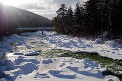 Winter Bridge (Northern Wolf Photography) Tags: 17mm bridge em5 forest ice mountains olympus pemi pemigewasset river snow trees whitemountains winter woods lincoln newhampshire unitedstatesofamerica us