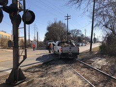 MOW Crew Scrambles to Get out of Way of CP Train Kishwaukee Street Rockford IL November 14 2018 #4 (Tom J. Burke) Tags: cp mow kishwaukeestreet rockford railroad train milwaukeeroad canadianpacific