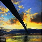 Vancouver - British Columbia -  Canada  - Lion Gates Bridge  - National Historic Site of Canada thumbnail