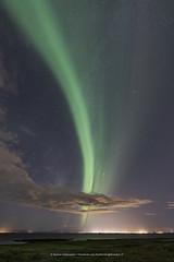 In The Evening (Kjartan Guðmundur) Tags: iceland ísland auroraborealis northernlights norðurljós nightscape nocturne nightphotography ngc nature stars sky clouds city outdoor ocean sigma14mmf18art canoneos5dmarkiv arctic kjartanguðmundur