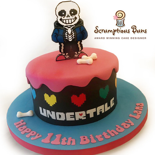 Undertale Birthday Cake - a photo on Flickriver