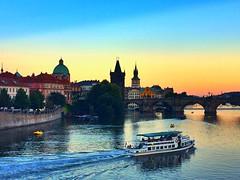 Prague | Czech Republic (maryduniants) Tags: rivervltava oldtown ship europe czechrepublic praha praga prag prague bridge river charlesbridge vltava