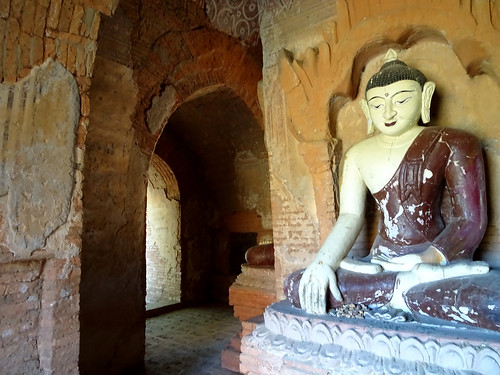 Inside a stupa in the Bagan Archaeological Zone