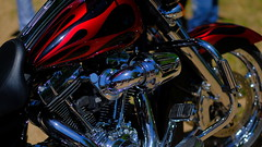 Steve's Bike (Tim @ Photovisions) Tags: xt2 harley fuji flamed fujifilm chrome nebraska harleydavidson show