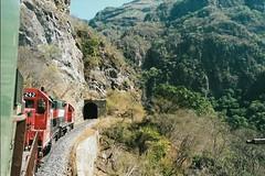 MEX52 8244 8242 501 (stevenjeremy25) Tags: ferromex fxe fnm mexico train railway railroad pacifico chp chihuahua gp382m 8242 8244 tunnel