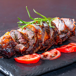 Meat loaf with tomatoes thumbnail