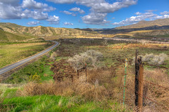 Fenced Out (davidseibold) Tags: america bakersfield barbedwirefence benaroad california cloud fence hill jfflickr kerncounty photosbydavid postedonflickr road sky unitedstates usa