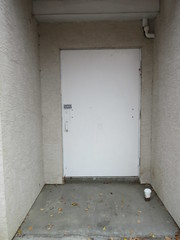 Place of shelter? (jamica1) Tags: salmon arm bc british columbia shuswap canada door doorway coffee cup
