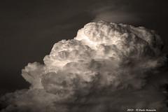 Nubi in B/W (Paolo Bonassin) Tags: clouds nubi wolke sky italy emiliaromagna