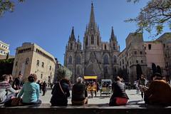 Cathedral. Barcelona, Spain (varfolomeev) Tags: 2018 испания город улица spain city street fujifilmxt10 samyang12mm church церковь