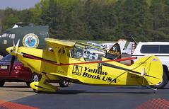 Pitts S-2B Special, N911ST, at Millville - Municipal (MIV / KMIV), New Jersey, USA - April 2004 (Tom Turner - NYC) Tags: yellowbookusa yellow biplane