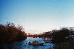 how did it sink? (jesuiselouise) Tags: analog film 35mm minoltasrt100x river ship sky denmark copenhagen blue water lomography400