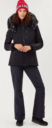 806de639363  20190127 212650  Women s Black SWEATY BETTY Exploration Softshell Ski  Jacket w. Faux Fur Trimmed
