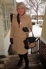 All Dressed Up And EVERYWHERE To Go! (Laurette Victoria) Tags: coat scarf gloves woman laurette purse