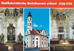 Postkarte / Deutschland (micky the pixel) Tags: postkarte postcard ephemera deutschland germany steinhausen badschussenried kirche church wallfahrtskirche badenwürttemberg