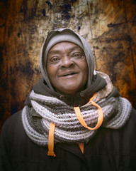 Ms. Hall (mckenziemedia) Tags: woman face smile homeless homelessness chicago urban city street streetphotography people portrait portraiture hood coat winter