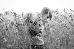 Im Kornfeld (NEVEZ P★) Tags: nevezphotography 50mm canon model dof berlin germany portrait fineart art childhood film kindheit blackandwhite bnw bw sw bokeh light contrast nature summer people field feld focus hair attitude