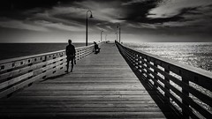 Scream of Darkness (CDay DaytimeStudios w /1 Million views) Tags: beach blackwhite ca california cayucos coastline highway1 ocean pacificcoast pacificcoasthighway pacificocean people pier water