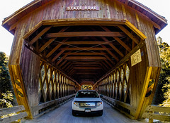Ohio Covered Bridges - Ashtabula County [State Road Covered Bridge] (Buckeye Photography) Tags: ford covered usa xe2 smugmugportfolio bridge fstop samyang state fuji ashtabula fujifilm ohio 8mm edge xt1 conneaut unitedstatesofamerica us