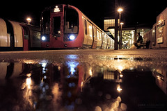 Reflections at Rayners Lane (Luke Agbaimoni (last rounds)) Tags: london londonunderground londontube train transportforlondon trains wet rain