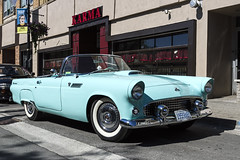 1955 Ford Thunderbird (John Hoadley) Tags: red 1955 ford thunderbird car stcatharines ontario july 2014 canon 7d 1740