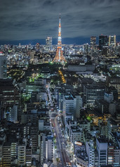 Tokyo Tower (Flutechill) Tags: tokyotower tokyo tokyoprefecture cityscape night urbanskyline japan famousplace skyscraper architecture urbanscene tower city downtowndistrict builtstructure buildingexterior minatoward asia dusk shinjukuward kantoregion