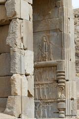 005 Hundred Column Hall (Sedsetoon), Southern Doorway, Persepolis (4).JPG (tobeytravels) Tags: artaxerxes xerxes ahurmazda alexanderthegreat