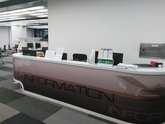 Information desk, Sungkyunkwan University Library, Seoul