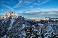 Säuling und Tegelberg vom Koflerjoch (stefangruber82) Tags: alpen alps tirol tyrol winter mountains berge schnee snow sunset sonnenuntergang nebel fog herbst fall