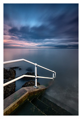 Anesthetize (ianrwmccracken) Tags: horizon shoreline prom d750 nuances calm step nikkor1635mmf4 water nd nikon solstice lowlight shore wideangle sea winter longexposure wall contrast scotland anesthetize 10stop cloud railing afternoon riverforth seascape concrete cokin fife white