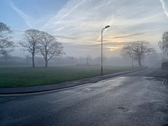 Boxing Day Fog (Craig Atkinson / Café Royal Books) Tags: shotoniphone xr iphone ainsdale villagegreen fog boxingday archive britain british history culture documentaryphotography documentary society collection series