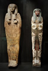 Egyptian couple (SM Tham) Tags: europe germany bavaria munich statemuseumofegyptianart egyptology museum display art culture funeraryobjects sarcophagus coffin male female man woman couple painted casket
