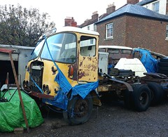 ATKINSON Silver Knight (shagracer) Tags: artic unit tractor cab truck lorry fs gibbs fsgibbs transport haulage hgv old broken unloved decaying dead dying spare parts tarpaulin stood laid up rust rusting rusty