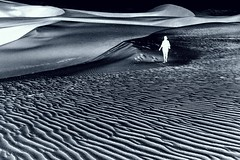 Ghost in the desert (as a matter of fact my wife)...