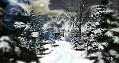 Winter Wonderland - Second Life Photography (Karole Batista) Tags: winter wonderland landscapes deer secondlife beautiful photography snowfalls exploresecondlife
