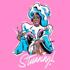 Monique Heart (Kyle J. Letendre) Tags: illustratrion brush illustration linework classic midcentury limited color palette queer art lgbtq lgbt drag queen race rupauls rpdr monique heart ooh ahh sensaiton