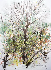 P1018881 (Gasheh) Tags: art painting drawing sketch nature tree trees autumn color pastel gasheh 2018