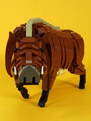 wild_boar_01 (kaba_and_son) Tags: 干支 レゴ lego boar 猪 いのしし イノシシ
