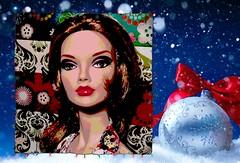 NuPoppy's Holiday Card (The Real Blythequake) Tags: 16inchfashionablysuitedpoppyparkerdoll dressfromalwinroosoriginals jasonwudolls integritytoys fashiondolls