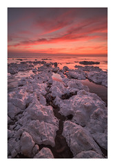 Birling Gap - January 4th (Edd Allen) Tags: sea seascape sunset rocks water seaside moody atmopshere atmospheric serene bucolic nikond810 zeisdistagon18mm uk england eastsussex south southcoast coastal waves tide birlinggap trails winter leefilters reflection