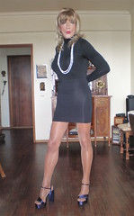 Karen (Karen Maris) Tags: tg tgirl tgurl karen legs heels transgender transvestite transsexual pantyhose sheer tights blonde tranny trannie crossdress crossdresser