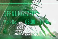 In die Hufe kommen (maywind72) Tags: bremen bremerstadtmusikanten doppeltbelichtung farbfilter fotomarathon mehrfachbelichtung grün