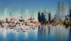 False Creek Sunny Day (beelzebub2011) Tags: canada britishcolumbia vancouver multipleexposure abstract yaletown falsecreek