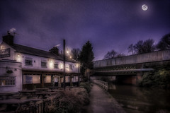 Towpath Dreams (Kev Walker ¦ 9 Million Views..Thank You) Tags: bridgewatercanal building england lighthouse manchester water autumncolours britain canal europe folly landscape light montongreen night outdoors quayside reflection twilight