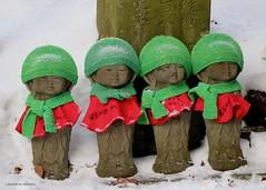 Japanese Christmas (Sapporo Shaun) Tags: statue christmas red green winter japan japanese
