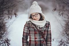 Winter mornings (AlexanderHorn) Tags: winter portrait cold snow finland girl woman red ice scandinavia